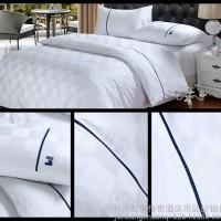 宾馆主题酒店纯棉四件套 60支贡缎斜纹床单被套